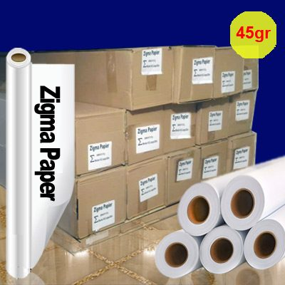 کاغذ رول سابلیمیشن 45 گرم عرض 162 - 200 متری Zigma