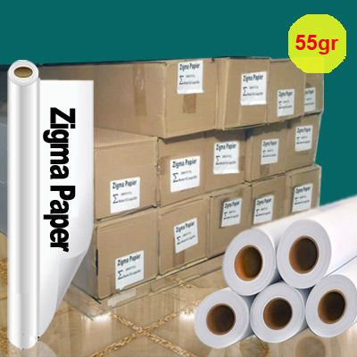 کاغذ رول سابلیمیشن 55 گرم عرض 162 – 200 متری Zigma