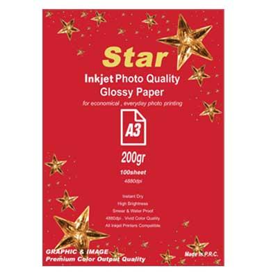 کاغذ فتوگلاسه 200گرم آ3 Star