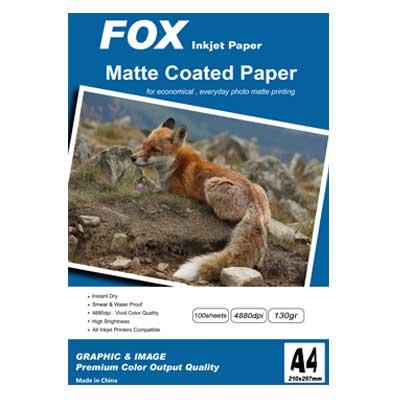 کاغذ کتد فاکس 130 گرم آ4