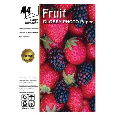 فتو گلاسه 120 گرم آ4 100برگ fruit