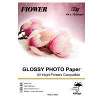 کاغذ فتو گلاسه 120 گرم آ4 Flower