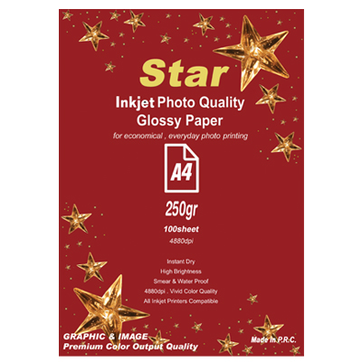 کاغذ فتو گلاسه 250 گرم star