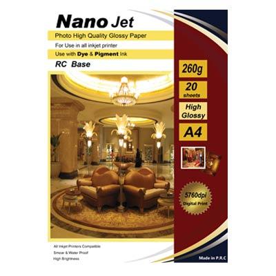کاغذ فتو گلاسه 260 گزم nano