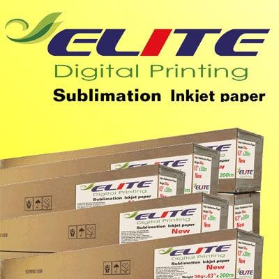 کاغذ رول سابلیمیشن 58گرم عرض 160 - 200متری Elite