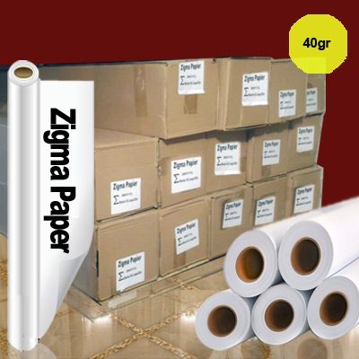 کاغذ رول سابلیمیشن 40 گرم عرض 162 - 200 متری Zigma