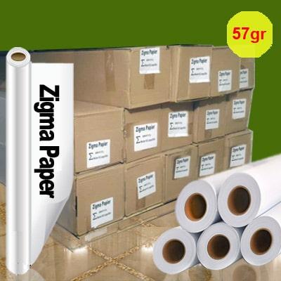 کاغذ رول سابلیمیشن 57 گرم عرض 162 - 200 متری Zigma، واردکننده جوهر سابلیمیشن