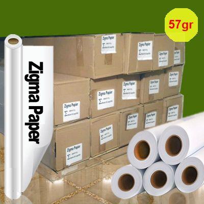 کاغذ رول سابلیمیشن 57 گرم عرض 162 – 200 متری Zigma